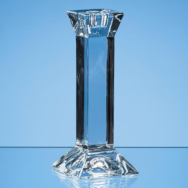 JR14P -   15cm Lead Crystal Padova Candlestick Holder* - (Fully Engraved)