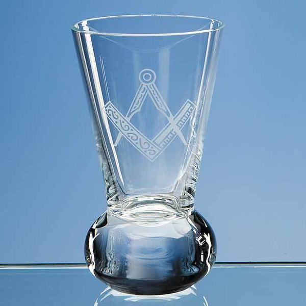 L112P -   100ml Handmade Firing Glass - (Fully Engraved)
