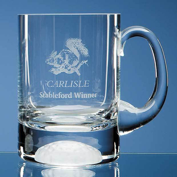 L176P -   1pt Handmade Golf Ball Base Tankard - (Fully Engraved)