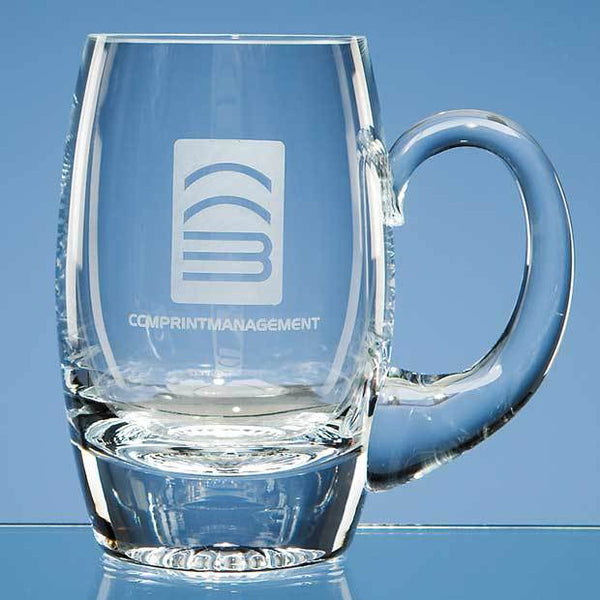 L303P -   0.425ltr Handmade Plain Barrel Tankard - (Fully Engraved)