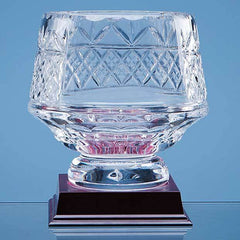 15cm Lead Crystal Panelled Heeled Bowl