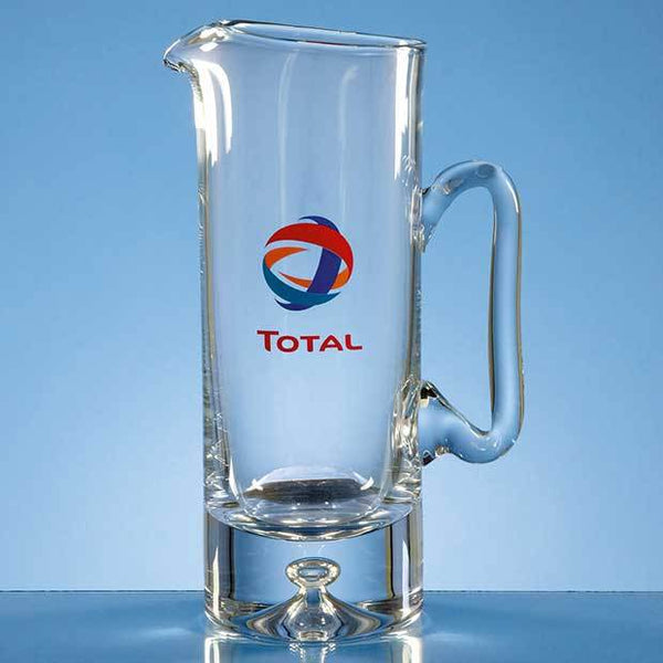 L404P -   1ltr Handmade Bubble Base Water Jug - (Fully Engraved)