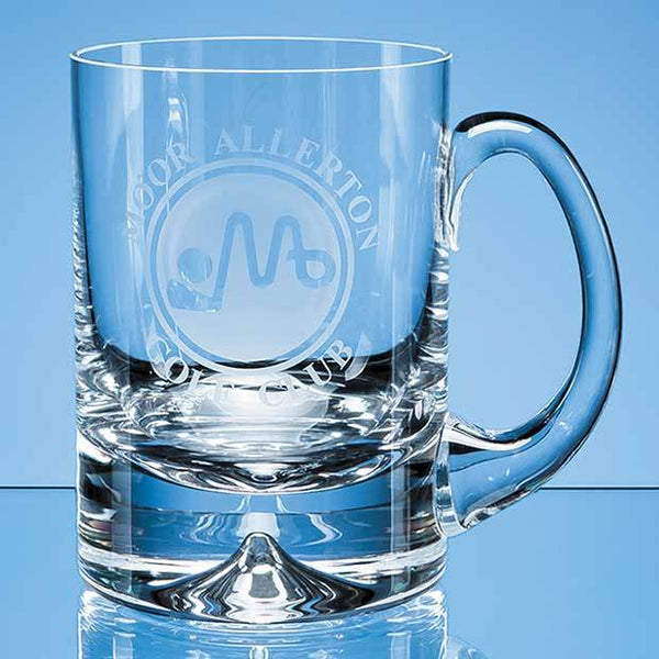 L405P -   0.565ltr Handmade Dimple Base Tankard - (Fully Engraved)