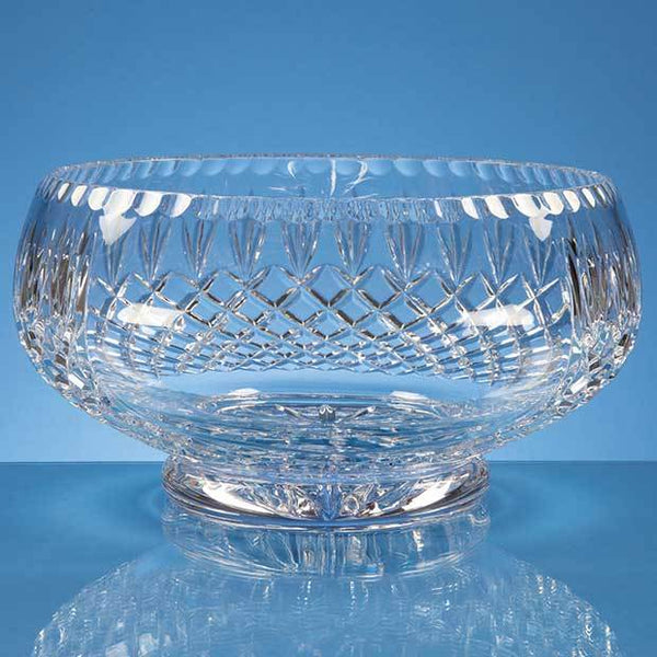 L424P -   25cm Lead Crystal Presentation Bowl - (Fully Engraved)