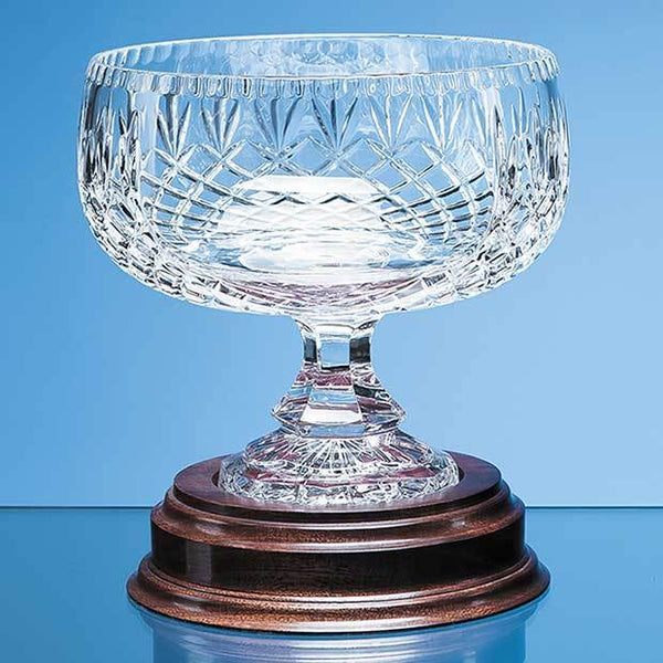 L426P -   20cm Lead Crystal Footed Bowl - (Fully Engraved)