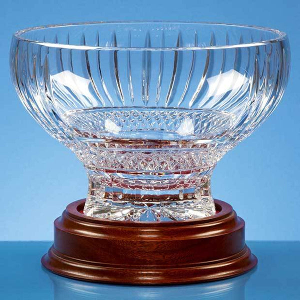 L427P -   22cm Lead Crystal Heeled Presentation Bowl - (Fully Engraved)