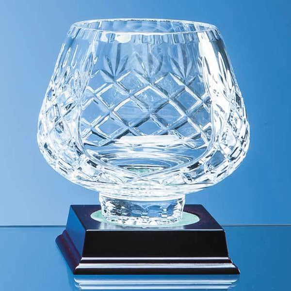 L440P -   13cm Lead Crystal Panelled Tulip Bowl - (Fully Engraved)