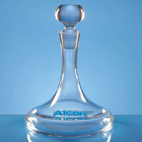 L447P -   1ltr Handmade Plain Ships Decanter - (Fully Engraved)
