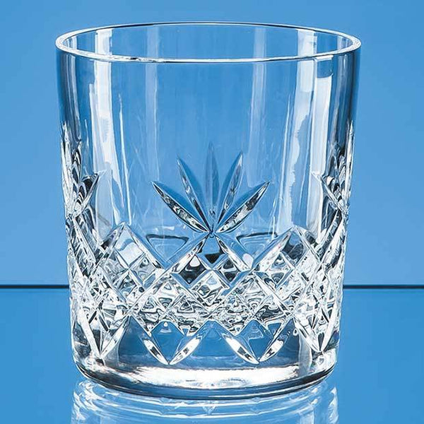 L607P -   300ml Blenheim Lead Crystal Full Cut Whisky Tumbler - (Fully Engraved)