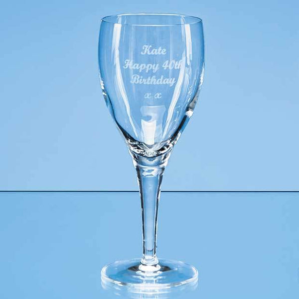 LB14P -   225ml Michelangelo Red Wine Glass - (Fully Engraved)