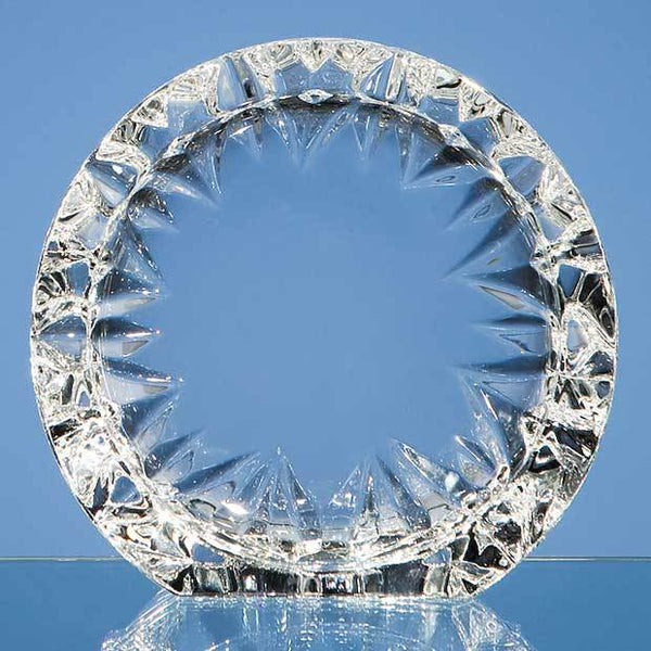 MC25P -   14.5cm Mario Cioni Lead Crystal Tech Roundel - (Fully Engraved)