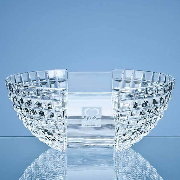 MC43P -   23cm Mario Cioni Lead Crystal Luxe Bowl - (Fully Engraved)