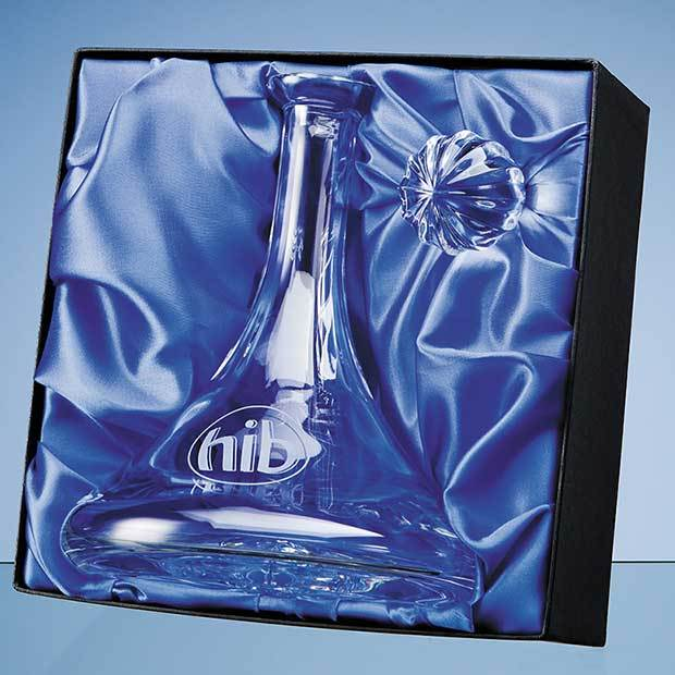 Universal Ships Decanter/Bowl  Satin Lined Presentation Box* (BOX ONLY)