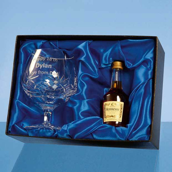 PB212P -   Blenheim Brandy Gift Set with a 5cl Miniature Bottle of Brandy - (Fully Engraved)