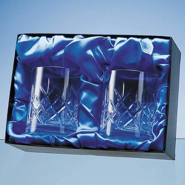 PB54P -   Whisky Tumbler Pair Satin Lined Presentation Box (BOX ONLY)