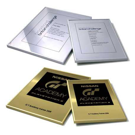 PKB141P -   SILVER, SMALL, METAL CERTIFICATES: Framed in a Anodised, Aluminium Frame.
