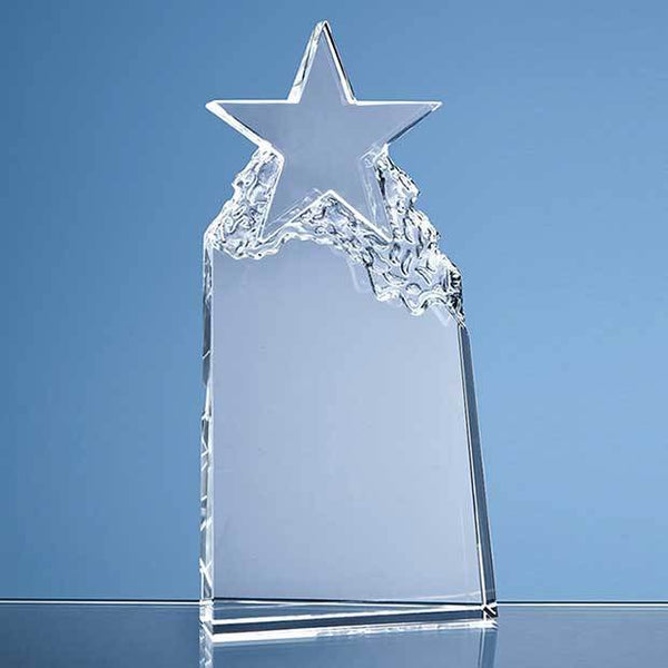 QC1005P -   25cm Optical Crystal Star Mountain Award - (Fully Engraved)