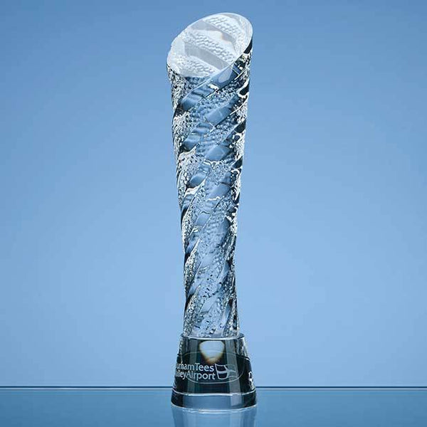 QC1006P -   25cm Optical Crystal Hubble Award - (Fully Engraved)