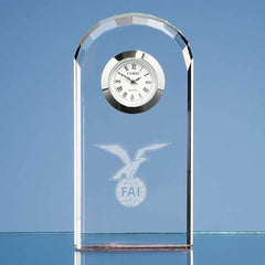 10cm Optical Crystal Bevelled Arch Clock