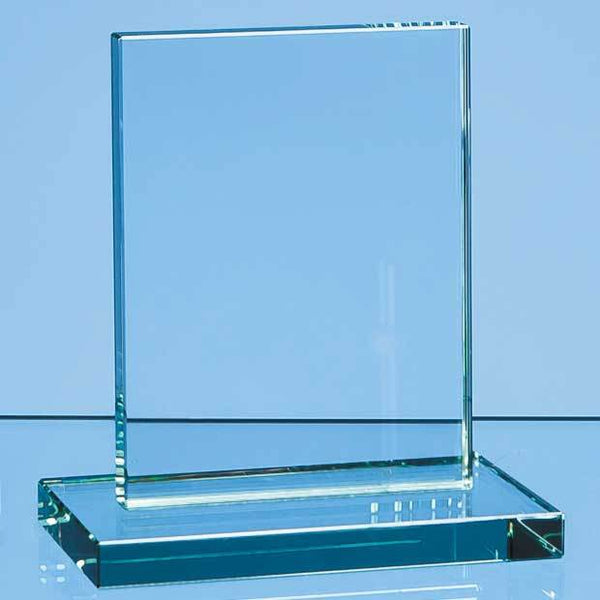 R34P -   12cm x 9cm x 12mm Jade Glass Rectangle Award - (Fully Engraved)
