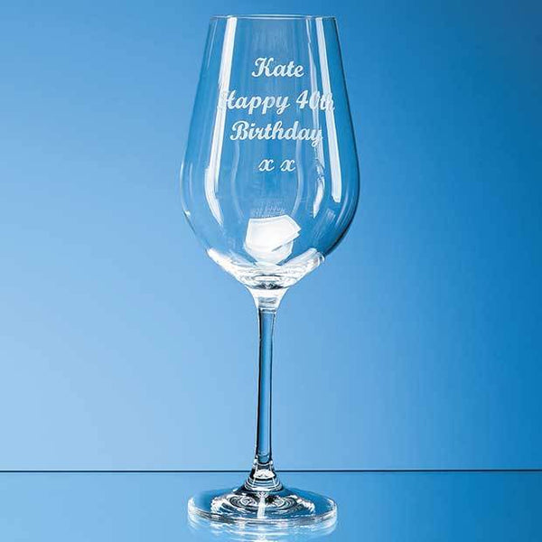SL402P -   470ml Aura Crystalite Goblet - (Fully Engraved)