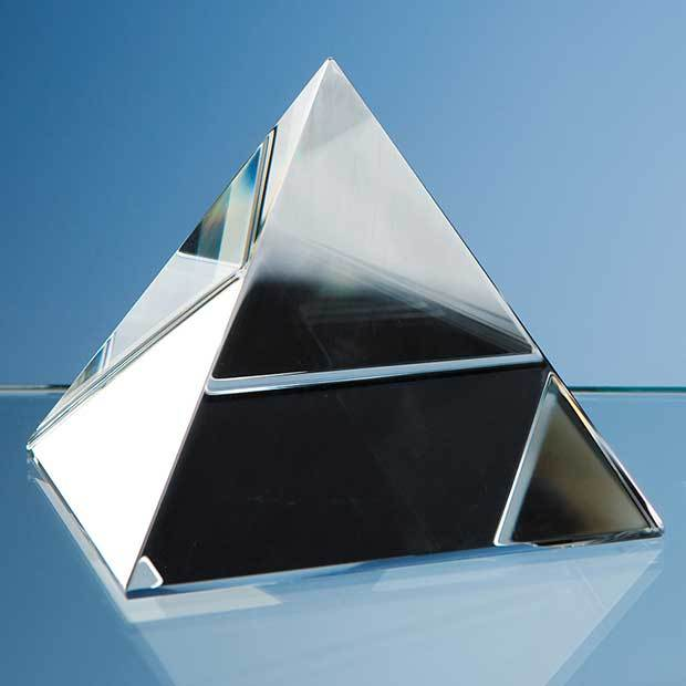 9cm Optical Crystal 4 Sided Pyramid