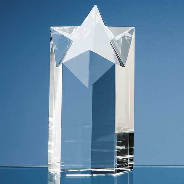18cm Optical Crystal Star Column Award