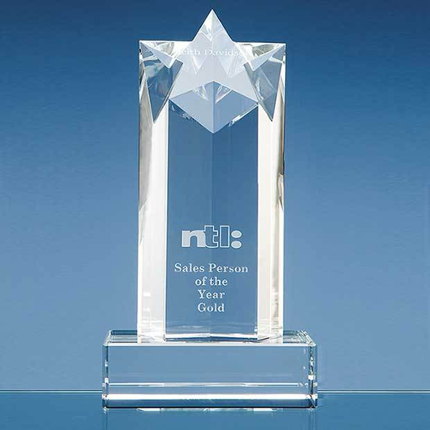 20cm Optical Crystal Star Column Award