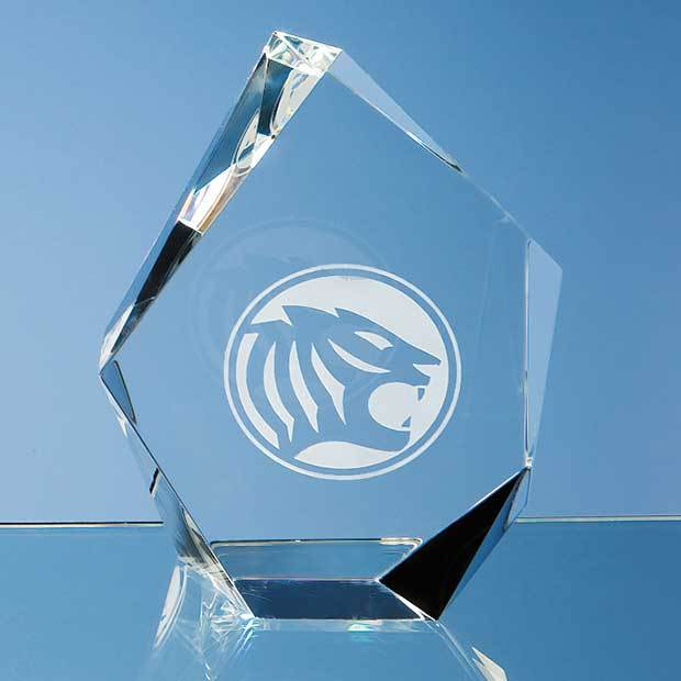 13cm Optical Crystal Facet Iceberg Award