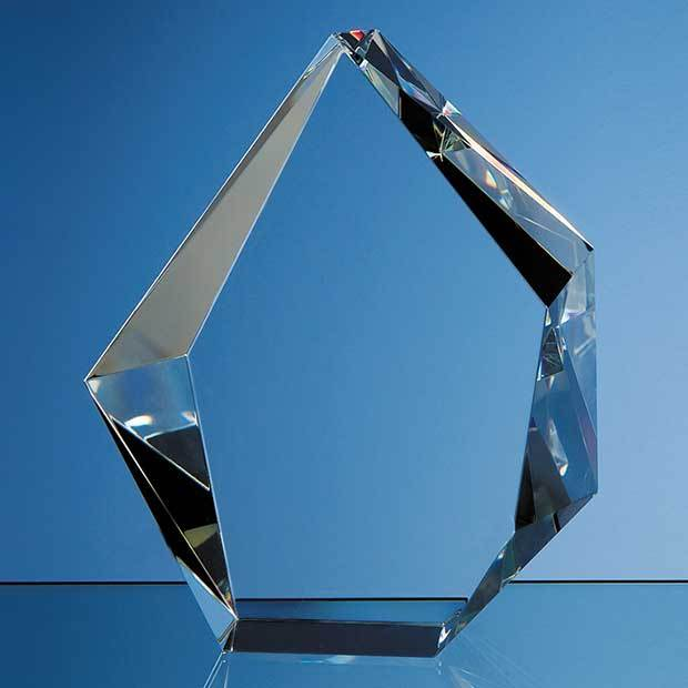17cm Optical Crystal Facet Iceberg Award