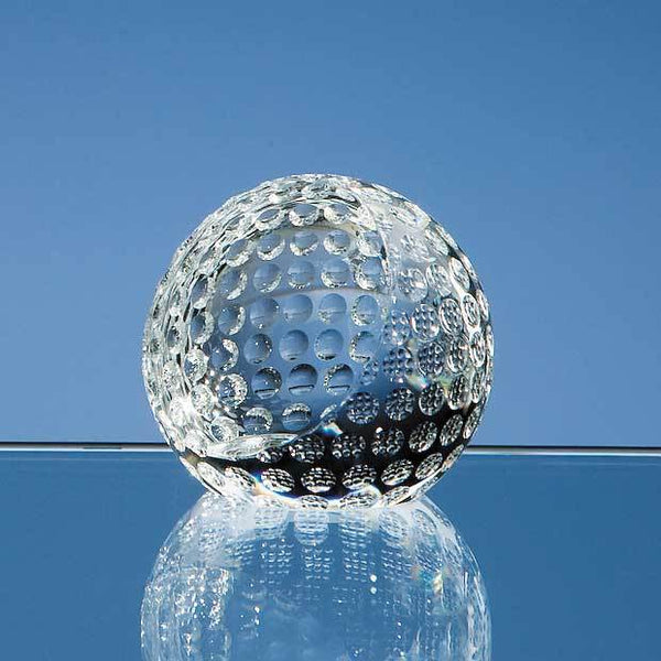 SY2083P -   6cm Optical Crystal Golf Ball Paperweight - (Fully Engraved)