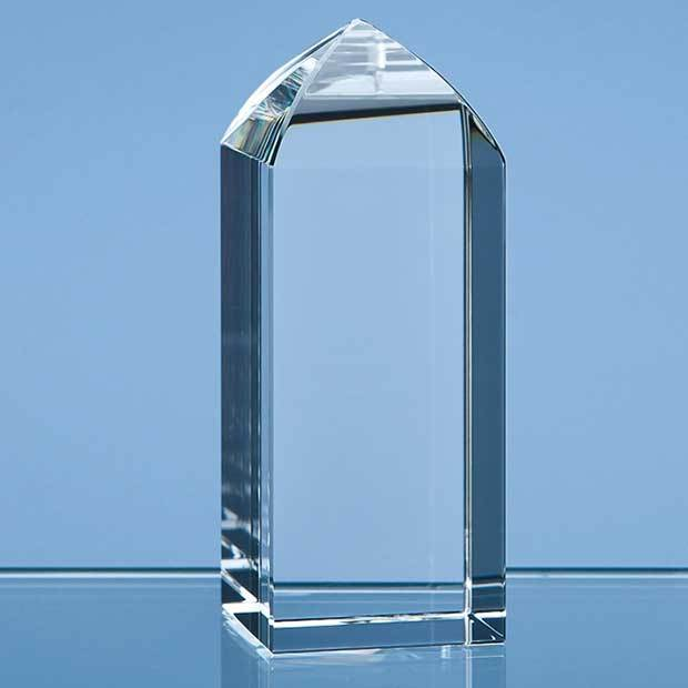 10cm Optical Crystal Mini Tower Rectangle