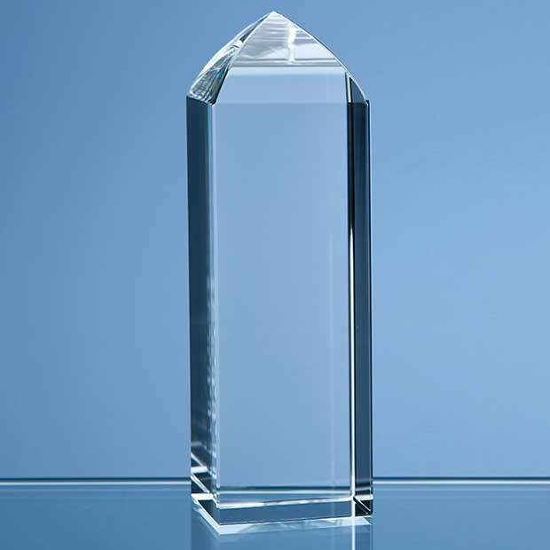 12.5cm Optical Crystal Mini Tower Rectangle