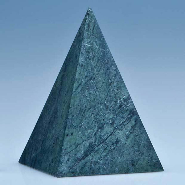 SY3076P -   12.5cm Green Marble 4 Sided Pyramid Award* - (Fully Engraved)