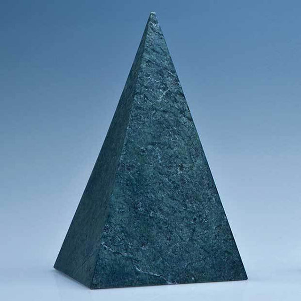 SY3077P -   15cm Green Marble 4 Sided Pyramid Award* - (Fully Engraved)