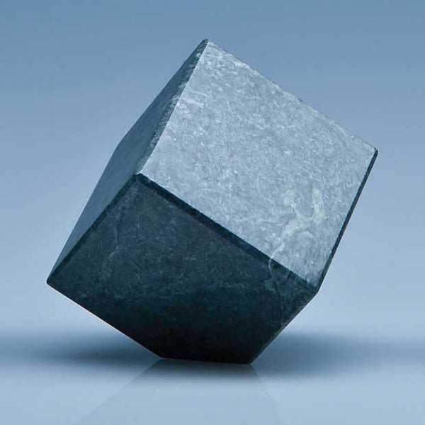 SY3079P -   6cm Green Marble Bevel Edged Cube* - (Fully Engraved)