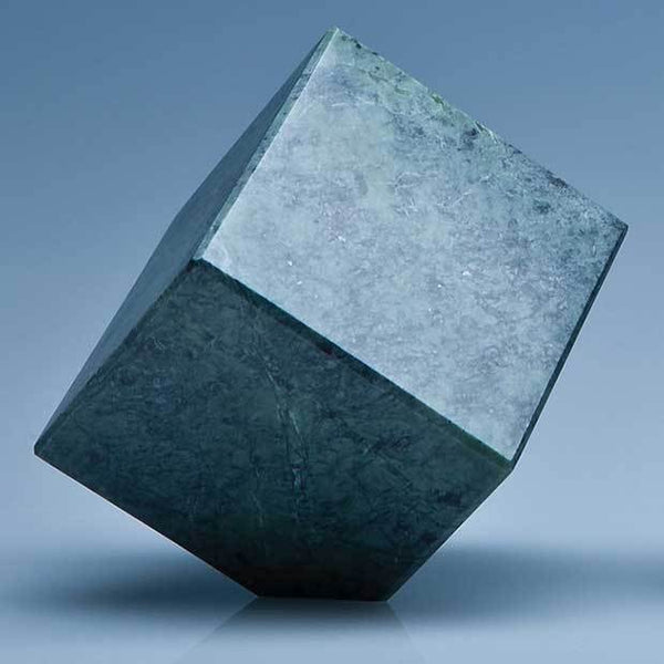 SY3080P -   7cm Green Marble Bevel Edged Cube* - (Fully Engraved)