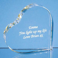 10cm Optical Crystal Stand Up Heart