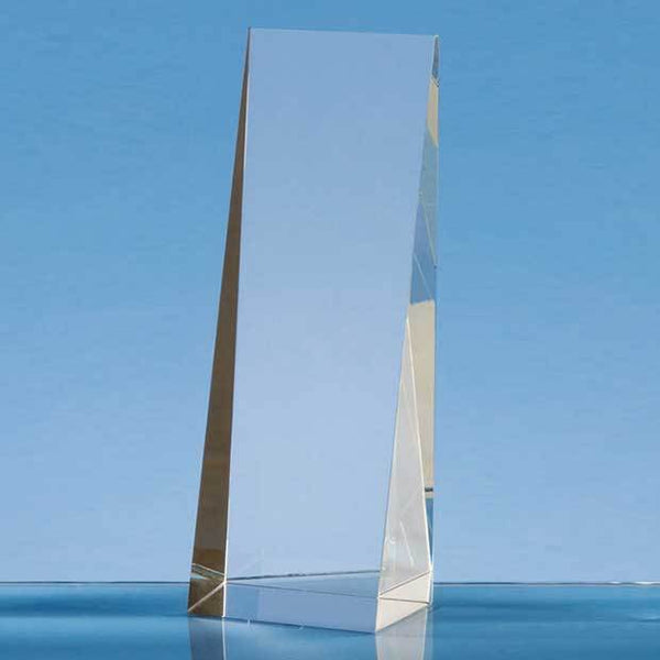 SY4041P -   19.5cm Optical Crystal Wedge Rectangle Award - (Fully Engraved)