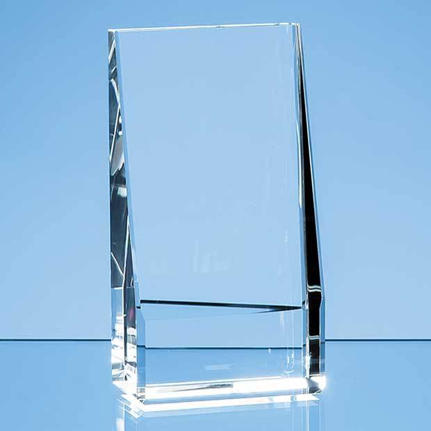 16.5cm Optical Crystal Vertical Slope Award