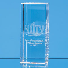 15cm x 6cm x 6cm Optical Crystal Rectangle, H or V