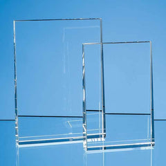 15cm Optical Crystal Vertical Wedge Award