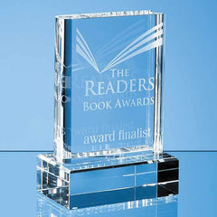 15cm Optical Crystal Book Award