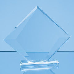 18.5cm x 21.5cm x 10mm Clear Glass Vision Diamond Award in a Gift Box