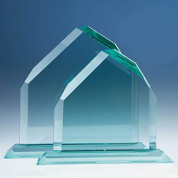 T5012BP -   20.5cm CrystalEdge Jade Dartmoor Peak in a Foam Gift Box - (Fully Engraved)