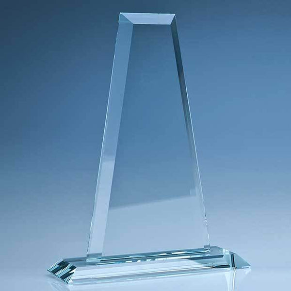 T5049BP -   25.5cm CrystalEdge Clear Tower Award in a Foam Gift Box - (Fully Engraved)