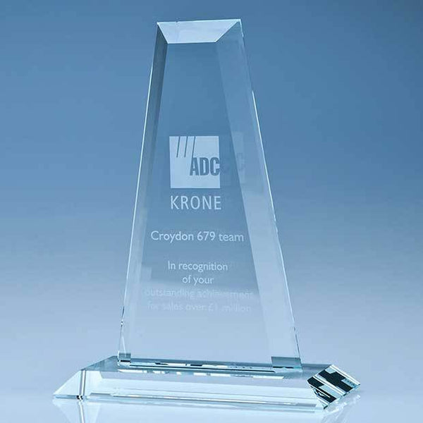 T5050P -   33cm CrystalEdge Clear Tower Award - (Fully Engraved)