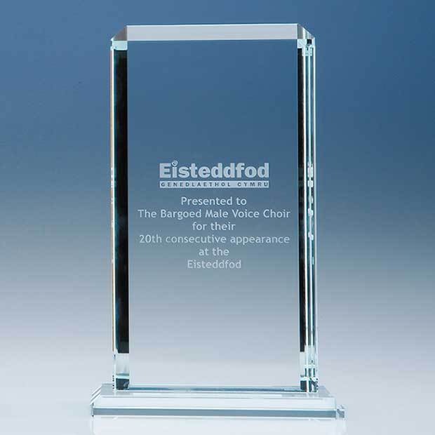 23cm x 12.75cm x 12mm Clear Glass Echo Award