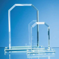 15cm x 9.5cm x 12mm Jade Glass Bevelled Edge Honour Award