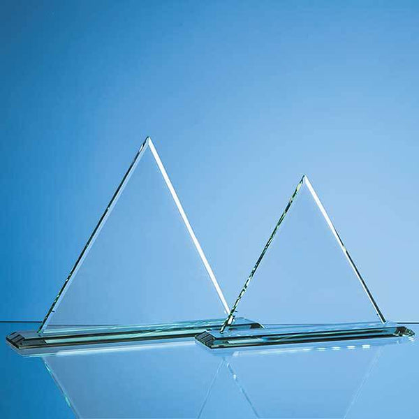 VGJ37212P -   27cm x 27cm x 12mm Jade Glass Pyramid Award - (Fully Engraved)